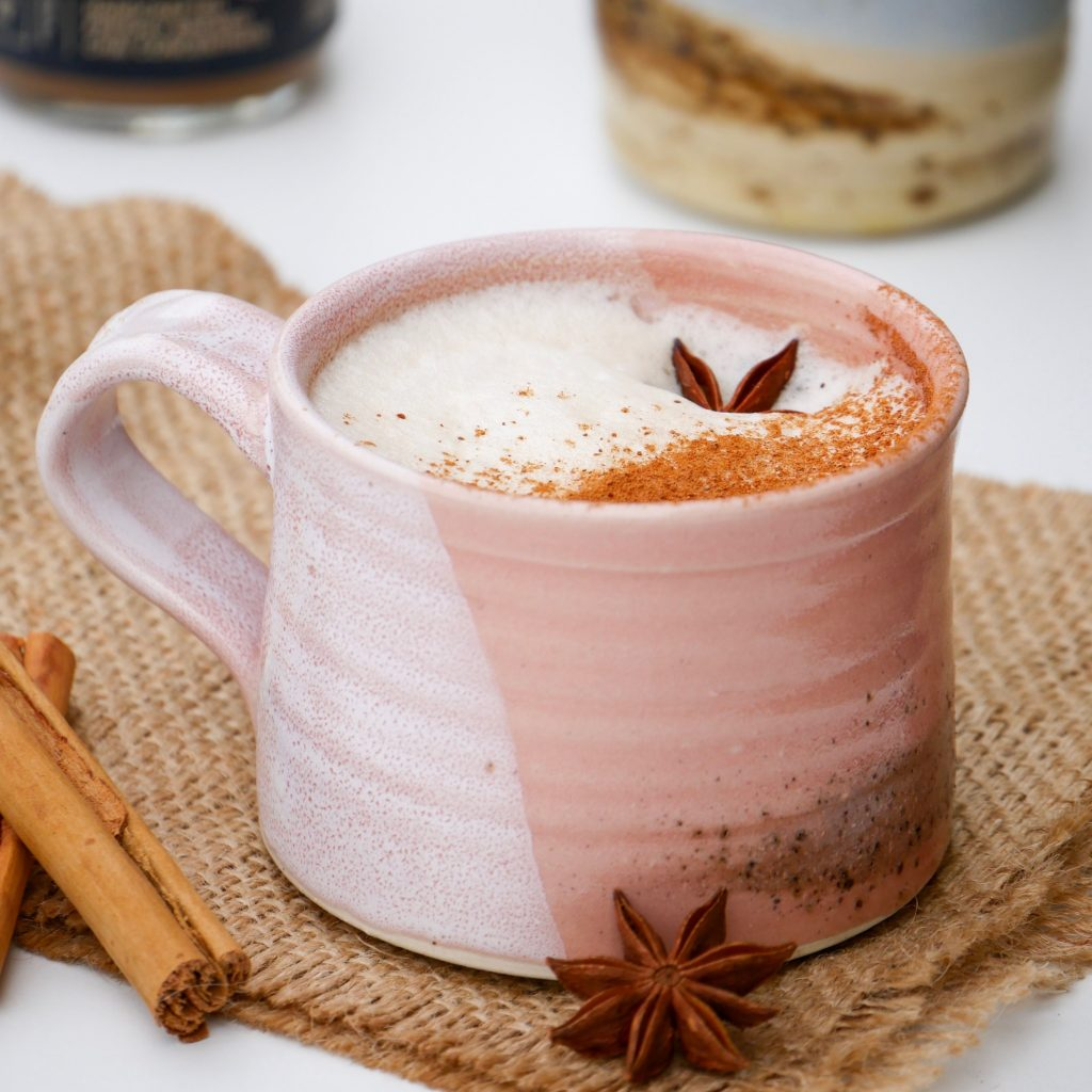 chai concentrate latte mug